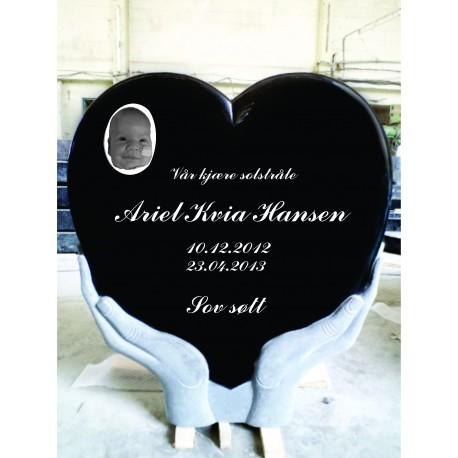 Hjerteformet Gravstein PG SW 150